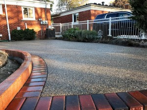 Exposed Aggregate with paver border