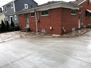 Ferndale patio and driveway