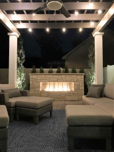 Fireplace and Pergola