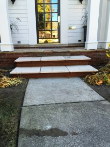 flagstone step after