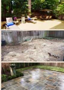 gram before and after patio