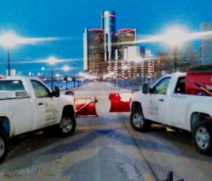 plow trucks downtown